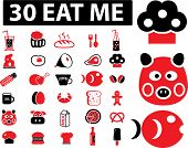 stock photo of eat me  - 30 eat me icons - JPG