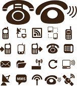 Постер, плакат: Телефон & общения значки знаки вектор