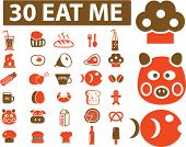 stock photo of eat me  - 30 eat me signs - JPG