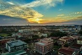 Early Morning View Of The City Of Labuan Town,malaysia.labuan Town Is The Capital Of The Federal Ter poster