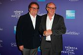 NEW  YORK - APRIL 21: Colm Meaney and Terry George attend the
