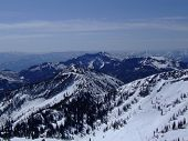 picture of snowbird  - View of the Wasatch mountains from the top of Snowbird resort - JPG