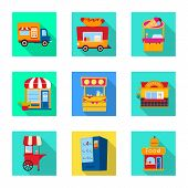 Isolated Object Of Amusement And Store Logo. Set Of Amusement And Urban Stock Symbol For Web. poster
