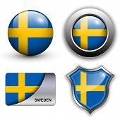 Sweden flag icons theme.