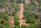 Landscape Forest And Mountain Aerial View Form Sigiriya Rock, Sri Lanka, Panoramic View, Which Domin poster