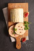 foie gras with gingerbread, fig and peppers poster