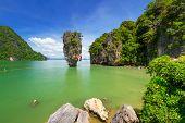 pic of james bond island  - Ko Tapu rock on James Bond Island - JPG