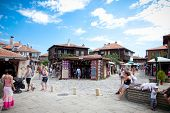 NESEBAR,BULGARIA-AUGUST 15: People visit Old Town on August 15, 2012 day of Nessebar, Bulgaria. Ness