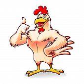 Постер, плакат: Сильный курица