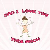 pic of you are awesome  - I Love You This Much Greeting Card - JPG