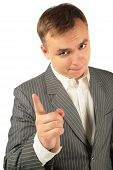 Admonishing Businessman By Finger