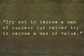 foto of einstein  - Inspirational quote by Albert Einstein on earthy background image - JPG