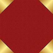 image of plexus  - red background with golden corners   - JPG