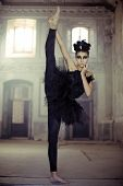 image of skinny  - Professional ballet dancer - JPG
