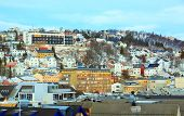 picture of tromso  - Tromso Cityscape at dusk Troms Norway - JPG