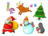foto of rudolf  - set of happy cartoons related to Christmas - JPG