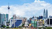 stock photo of petronas twin towers  - Kuala Lumpur city - JPG
