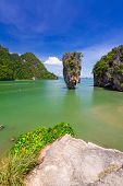 stock photo of james bond island  - Ko Tapu rock on James Bond Island - JPG