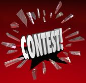 Contest 3D Word Exciting News Announcement Drawing Winner