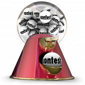 foto of gumball machine  - Contest Word Gumball Machine Random Winner Drawing - JPG