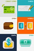 stock photo of payment methods  - Set of flat design concepts  - JPG