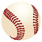 pic of softball  - Vector illustration of realistic baseball - JPG