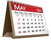 pic of calendar 2014  - Vector of May 2014 Calendar - JPG