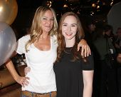 LOS ANGELES - MAR 25:  Sharon Case, Camryn Grimes at the Young and Restless 41st Anniversary Cake at