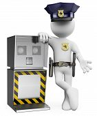 stock photo of policeman  - 3d white people - JPG