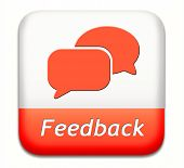 feedback or testimonials icon or button. Publical comments for improvement and customer satisfaction