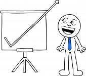 Businessman With Sales Chart