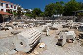 foto of mausoleum  - Mausoleum at Halicarnassus in Bodrum Town Turkey - JPG