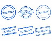 image of tuesday  - Detailed and accurate illustration of tuesday stamps - JPG
