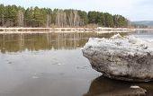 image of kan  - Beached Kan River floe near Zelenogorsk - JPG