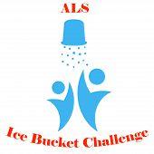 Постер, плакат: ALS Ice Bucket Challenge concept Vector