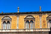 stock photo of pilaster  - Loggia del Consiglio or Loggia di Fra Giocondo  - JPG
