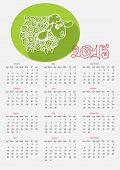 stock photo of counting sheep  - Calendar new Year 2015 - JPG