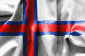 foto of faroe islands  - The Faroe Islands flag texture creased and crumpled up - JPG