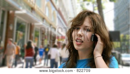 poster of City girl talking on the phone