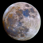 picture of wolf moon  - A saturation boosted image of the Moon - JPG