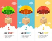picture of parachute  - Parachute flat option banners - JPG
