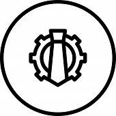 picture of human resource management  - Reputation Management Human resource management Necktie and Cogwheel modern vector icon - JPG