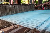 image of loom  - Traditional loom or weaving apparatus in local of Thailand - JPG