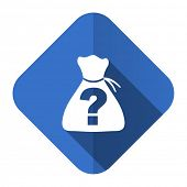 stock photo of riddles  - riddle flat icon   - JPG