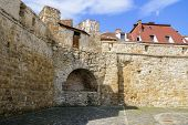 picture of fortified wall  - Fragment Of Fortified Wall In The Old City Of Cluj - JPG