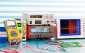 foto of measurements  - electronic measuring instruments - JPG