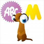 stock photo of meerkats  - cute vector comic cartoon animals abc - JPG