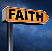 stock photo of jesus sign  - faith and trust pray to god and follow jesus and the holy bible road sign arrow - JPG
