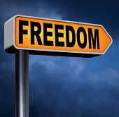 stock photo of democracy  - freedom peaceful free life without restrictions or obligations and peace democracy with text and word concept  - JPG