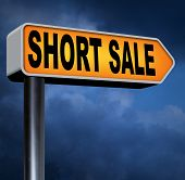 stock photo of reduce  - short sale reduced prices sales banner mortgage foreclosure and house reposession  - JPG